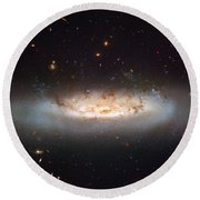 Hubble Views Ngc 4522 Round Beach Towel