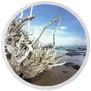 In The Rocks Round Beach Towel