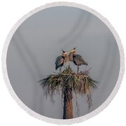 It Must Be Love Round Beach Towel