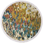 Round Beach Towel featuring the painting 1 John 1 7. Cleansed From All Sin by Mark Lawrence