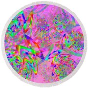 Round Beach Towel featuring the digital art Key Remix by Vitaly Mishurovsky