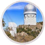 Kitt Peak Observatory Az Round Beach Towel