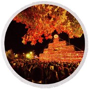 Laconia Pumpkin Festival Round Beach Towel