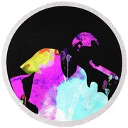 Linkin Park Watercolor Round Beach Towel