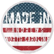 Made In Andrews, North Carolina Round Beach Towel