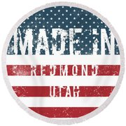 Made In Redmond, Utah Round Beach Towel