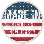 Made In Ringoes, New Jersey Round Beach Towel