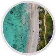 Makalawena Beach Round Beach Towel
