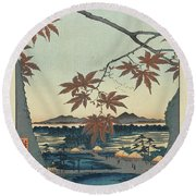 Maples At Mama Round Beach Towel