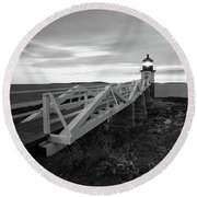 Marshall Point Light Round Beach Towel