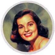 Mary Murphy, Vintage Actress Round Beach Towel