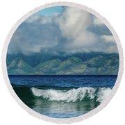 Maui Breakers Round Beach Towel