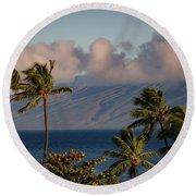 Maui Palms Round Beach Towel