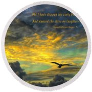Morning Flight Round Beach Towel