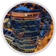 Northwestern Mutual Tower Round Beach Towel