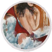 Nude Round Beach Towel