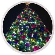 O Christmas Tree Round Beach Towel