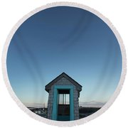 Outhouse, Matinicus Island, Knox Round Beach Towel