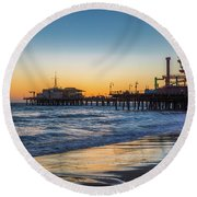 Pacific Park On The Pier Round Beach Towel