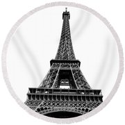 Paris Views II Round Beach Towel