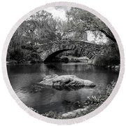 Round Beach Towel featuring the photograph Park Bridge by Stuart Manning