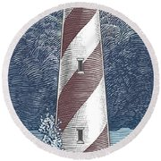 Peace In The Storm Round Beach Towel