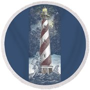 Round Beach Towel featuring the drawing Peace In The Storm by Clint Hansen