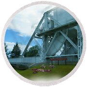 Pegasus Bridge Round Beach Towel
