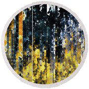 Round Beach Towel featuring the painting 1 Peter 1 7. Tested By Fire by Mark Lawrence
