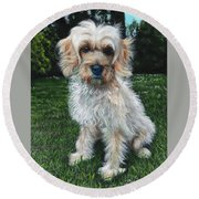 Portrait Of Toffee Round Beach Towel
