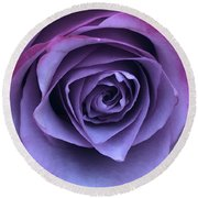 Purple Rose Round Beach Towel