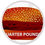 Quarter Pounder Round Beach Towel