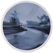 Rainy Day New Round Beach Towel