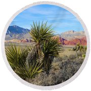 Red Rock Canyon National Conservation Area Round Beach Towel
