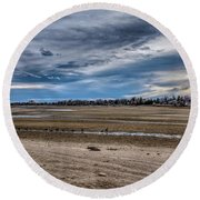 Round Beach Towel featuring the photograph Right Of Way by Jon Burch Photography
