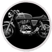 Royal Enfield Continental Gt Round Beach Towel