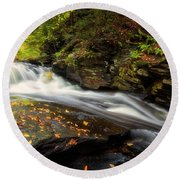 Round Beach Towel featuring the photograph Rushed by Russell Pugh