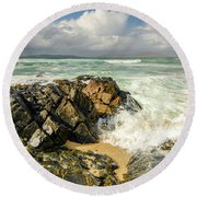 Scarista, Isle Of Harris Round Beach Towel