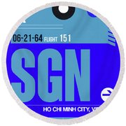 Sgn Ho Chi Minh City Luggage Tag I Round Beach Towel
