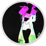 Shania Watercolor Round Beach Towel