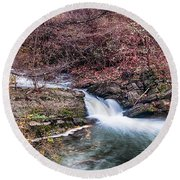 Small Falls Round Beach Towel