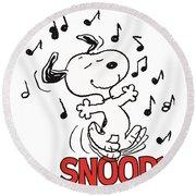 Snoopy Round Beach Towel