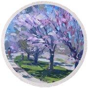 Spring Blossom Round Beach Towel