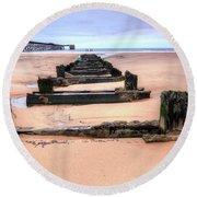 Steetley Pier Hartlepool Round Beach Towel