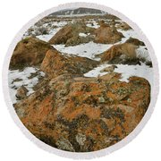 The Many Colors Of The Book Cliffs Round Beach Towel