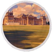 The White Party Tent Along Blenheim Palace Round Beach Towel