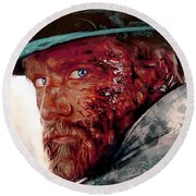 The Wounded Cowboy Round Beach Towel