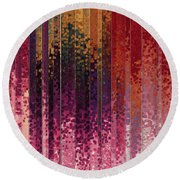 Round Beach Towel featuring the painting 1 Timothy 6 12. Lay Hold On Eternal Life by Mark Lawrence