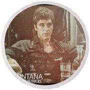 Tony Montana - The World Is Yours Round Beach Towel