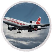 Trans World Airlines L-1011 Tristar Round Beach Towel